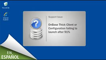 Quick Look: Troubleshooting OnBase