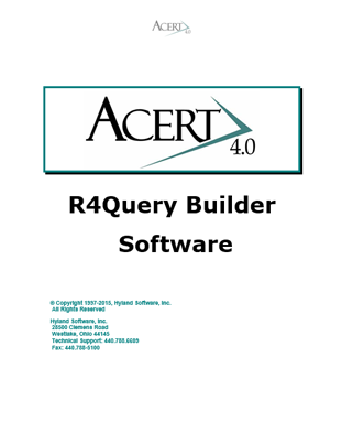 R4 ACERT Query Program Overview