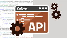 API: Basics of API and OnBase